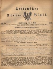 Kattowitzer Kreisblatt. 1886, nr 18