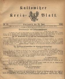 Kattowitzer Kreis-Blatt, 1886, No. 25