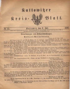 Kattowitzer Kreis-Blatt, 1886, No. 27