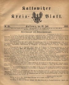 Kattowitzer Kreis-Blatt, 1886, No. 29