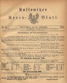 Kattowitzer Kreisblatt. 1886, nr 38