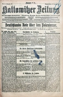 Kattowitzer Zeitung, 1921, Jg. 53, nr10