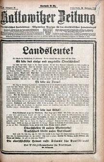 Kattowitzer Zeitung, 1921, Jg. 53, nr48