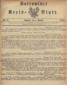 Kattowitzer Kreisblatt. 1880, nr 6