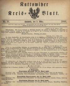 Kattowitzer Kreisblatt. 1888, nr 10
