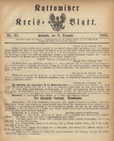 Kattowitzer Kreisblatt. 1880, nr 50