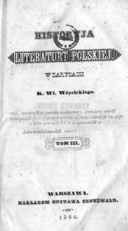 Historyja literatury polskiej w zarysach. T. 3