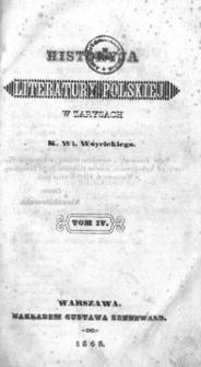 Historyja literatury polskiej w zarysach. T. 4