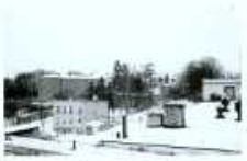 Głubczyce. Widok na Liceum Ogólnokształcące i budynek internatu od strony ul. Parkowej. Lata 70. XX w.