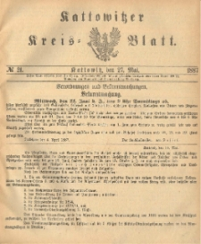 Kattowitzer Kreisblatt. 1887, nr 21