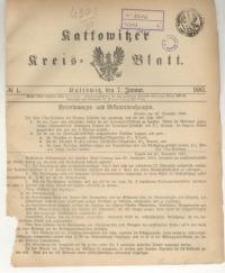 Kattowitzer Kreisblatt. 1887, nr 1
