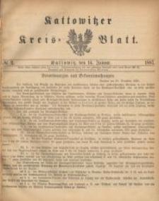 Kattowitzer Kreisblatt. 1887, nr 2