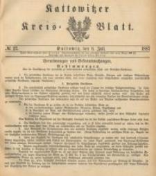 Kattowitzer Kreisblatt. 1887, nr 27