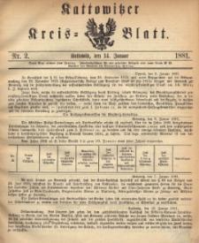 Kattowitzer Kreisblatt. 1881, nr 2