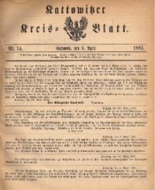 Kattowitzer Kreisblatt. 1881, nr 14