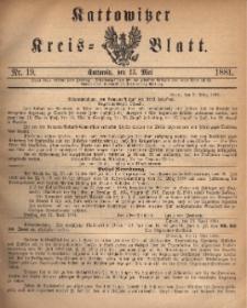 Kattowitzer Kreis-Blatt, 1881, Nr. 19