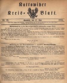 Kattowitzer Kreisblatt. 1881, nr 21