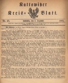 Kattowitzer Kreisblatt. 1881, nr 48