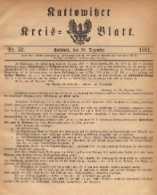 Kattowitzer Kreis-Blatt, 1881, Nr. 52