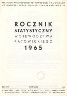 Rocznik Statystyczny Województwa Katowickiego. Rok 8 (1965)