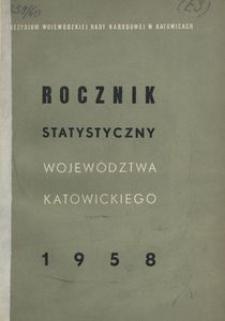 Rocznik Statystyczny Województwa Katowickiego. [Rok 1] 1958