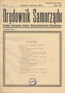 Orędownik Samorządu, 1937, R. 13, nr 4