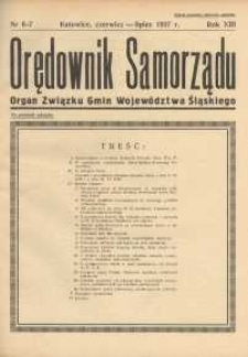 Orędownik Samorządu, 1937, R. 13, nr 6/7