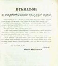 Dyktator do wszystkich Polaków umiejących czytać