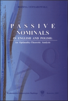 Passive nominals in English and Polish: an optimality-theoretic analysis