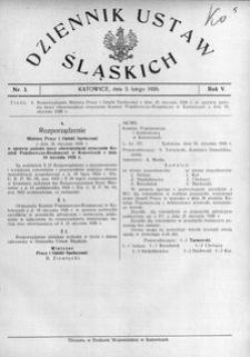 Dziennik Ustaw Śląskich, 03.02.1926, R. 5, nr 3