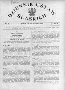 Dziennik Ustaw Śląskich, 24.06.1926, R. 5, nr 16