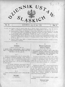Dziennik Ustaw Śląskich, 20.07.1926, R. 5, nr 17