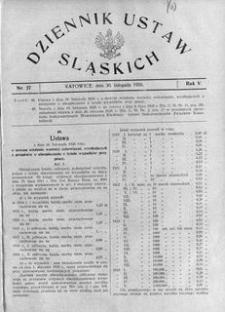 Dziennik Ustaw Śląskich, 30.11.1926, R. 5, nr 27