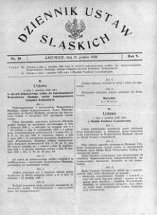 Dziennik Ustaw Śląskich, 15.12.1926, R. 5, nr 28