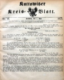 Kattowitzer Kreisblatt, 1875, nr18