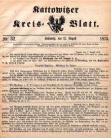 Kattowitzer Kreisblatt, 1875, nr32