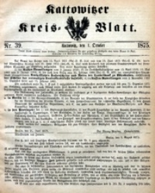 Kattowitzer Kreisblatt, 1875, nr39