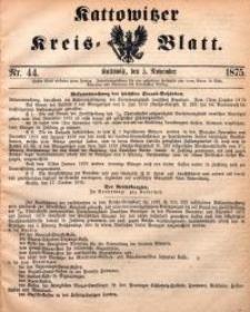 Kattowitzer Kreisblatt, 1875, nr44
