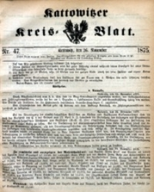 Kattowitzer Kreisblatt, 1875, nr47