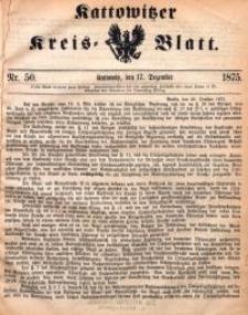 Kattowitzer Kreisblatt, 1875, nr50