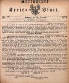Kattowitzer Kreisblatt, 1876, nr37