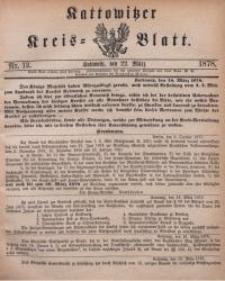 Kattowitzer Kreisblatt, 1878, nr12
