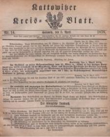 Kattowitzer Kreisblatt, 1878, nr14