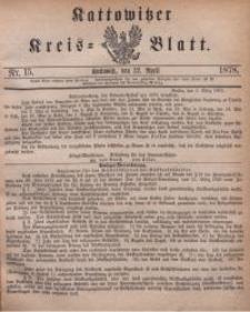 Kattowitzer Kreisblatt, 1878, nr15