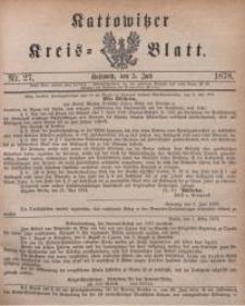 Kattowitzer Kreisblatt, 1878, nr27