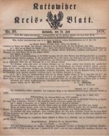 Kattowitzer Kreisblatt, 1878, nr29