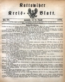 Kattowitzer Kreisblatt, 1878, nr33