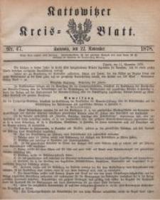 Kattowitzer Kreisblatt, 1878, nr47