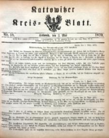 Kattowitzer Kreisblatt, 1879, nr18