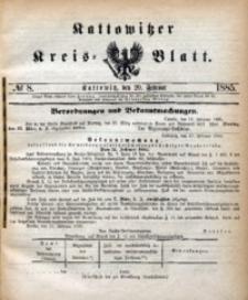 Kattowitzer Kreisblatt, 1885, nr8